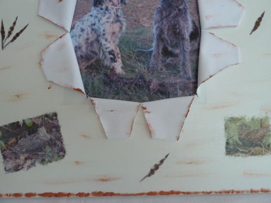 "cadre ""chiens et bécasses"""